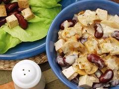 Fazuľový šalát s tofu