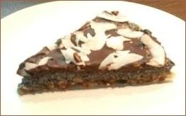 Makovo-čokoládová nepečená torta