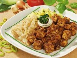 Pečené tofu s dusenou kapustou