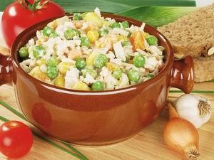 Zeleninový šalát so sójovou majonézou